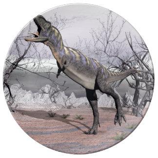 Aucasaurus dinosaur - 3D render Porcelain Plate