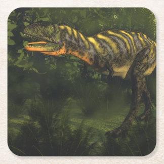 Aucasaurus dinosaur - 3D render Square Paper Coaster