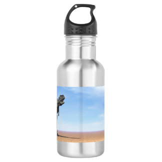 Aucasaurus dinosaur in the desert - 3D render 532 Ml Water Bottle