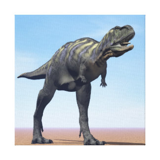 Aucasaurus dinosaur in the desert - 3D render Canvas Print
