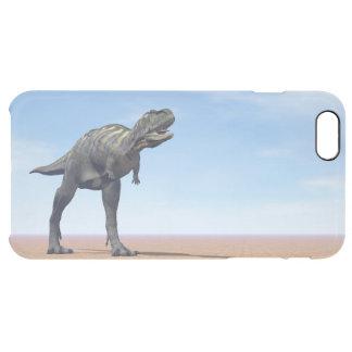 Aucasaurus dinosaur in the desert - 3D render Clear iPhone 6 Plus Case