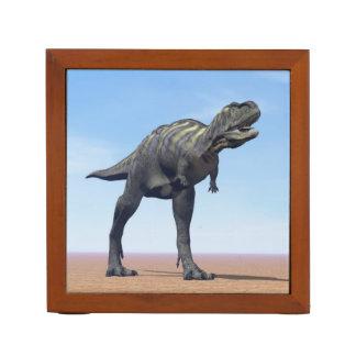 Aucasaurus dinosaur in the desert - 3D render Desk Organizer