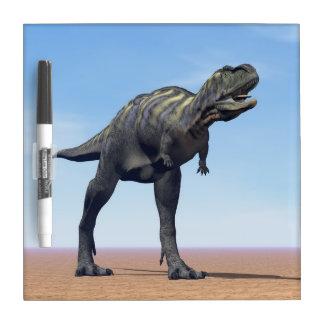Aucasaurus dinosaur in the desert - 3D render Dry Erase Board