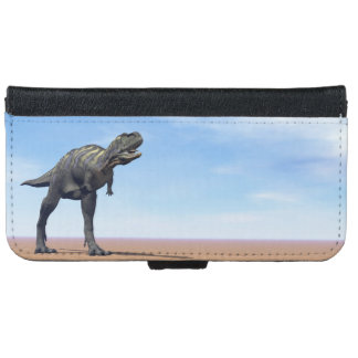 Aucasaurus dinosaur in the desert - 3D render iPhone 6 Wallet Case