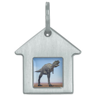 Aucasaurus dinosaur in the desert - 3D render Pet Tag