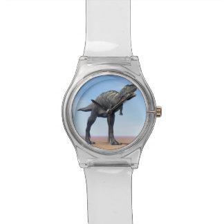 Aucasaurus dinosaur in the desert - 3D render Watch