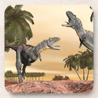 Aucasaurus dinosaurs fight - 3D render Coaster