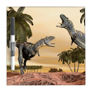 Aucasaurus dinosaurs fight - 3D render Dry Erase Whiteboard