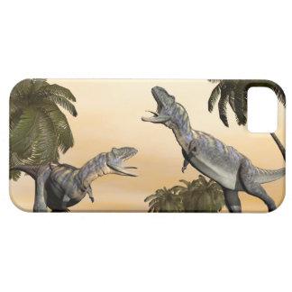 Aucasaurus dinosaurs fight - 3D render iPhone 5 Covers