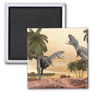 Aucasaurus dinosaurs fight - 3D render Magnet