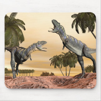Aucasaurus dinosaurs fight - 3D render Mouse Pad