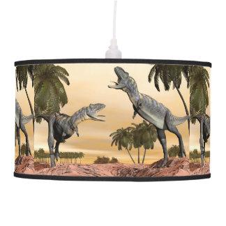 Aucasaurus dinosaurs fight - 3D render Pendant Lamp
