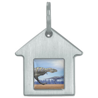 Aucasaurus dinosaurs running - 3D render Pet Tags