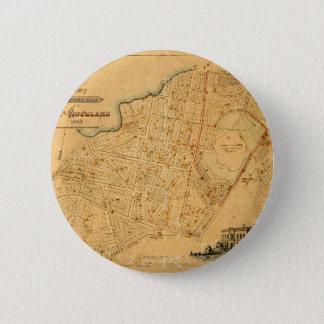 Auckland 1863 2 inch round button