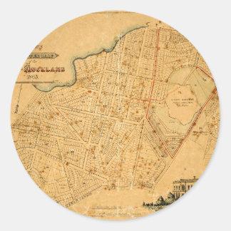 Auckland 1863 classic round sticker
