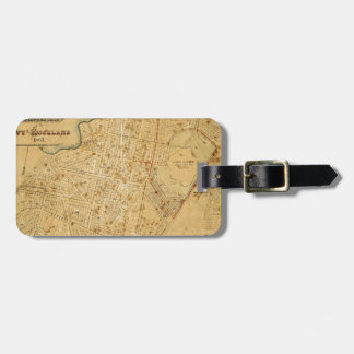 Auckland 1863 luggage tag