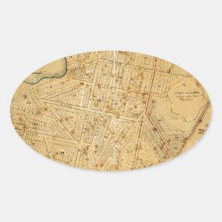 Auckland 1863 oval sticker
