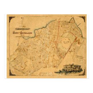 Auckland 1863 postcard
