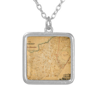 Auckland 1863 silver plated necklace