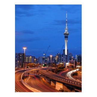 Auckland City at Dusk Postcard