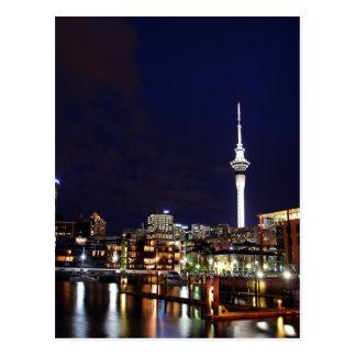 Auckland City, New Zealand at Night Postcard