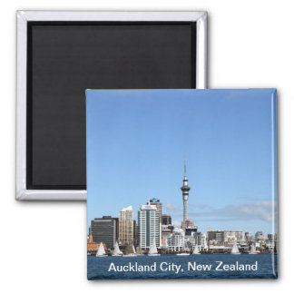 Auckland City, New Zealand by Day Magnet