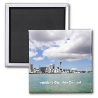 Auckland City, New Zealand Square Magnet