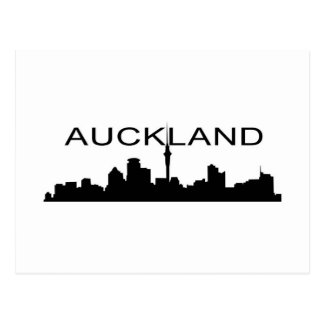 Auckland in Silhouette Postcard
