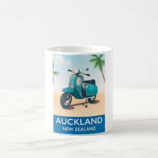 Auckland new zealand travel poster coffee mug