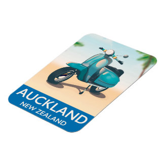 Auckland new zealand travel poster magnet
