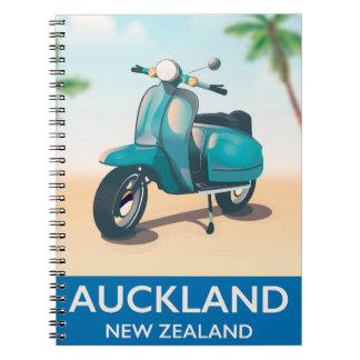 Auckland new zealand travel poster notebook