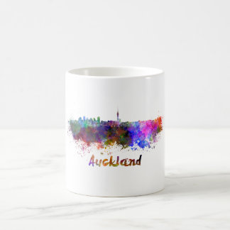 Auckland skyline in watercolor coffee mug