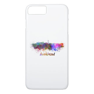 Auckland skyline in watercolor iPhone 7 plus case