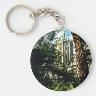 Auckland University Basic Round Button Keychain