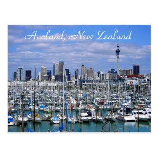 Aucland, New Zealand - Postcard