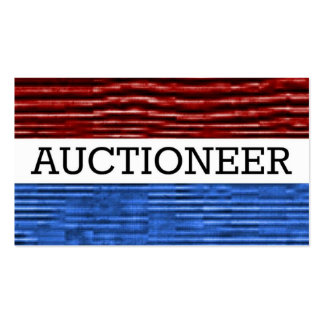 Auctioneer Patriotic Business Card