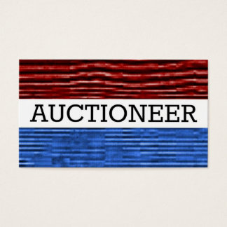 Auctioneer Patriotic Business Card