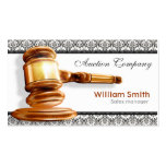 Auctioneer Services Pack Of Standard Business Cards