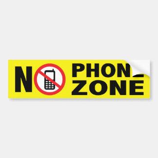 Aucun adhésif pour pare-chocs de zone de téléphone autocollant de voiture