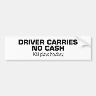 Aucun argent liquide (hockey de jeu d'enfants) autocollant de voiture