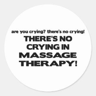 Aucun pleurer dans la thérapie de massage sticker rond