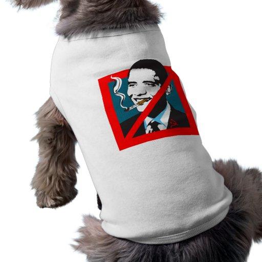 Aucune chemise de chien de Barack Obama Tee-shirts Pour Animaux Domestiques