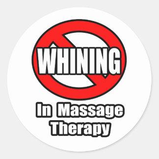 Aucune pleurnicherie dans la thérapie de massage autocollants ronds