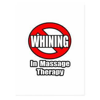 Aucune pleurnicherie dans la thérapie de massage carte postale