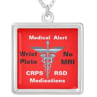 Aucuns médicaments médicaux de l alerte CRPS RSD d Colliers Personnalisés