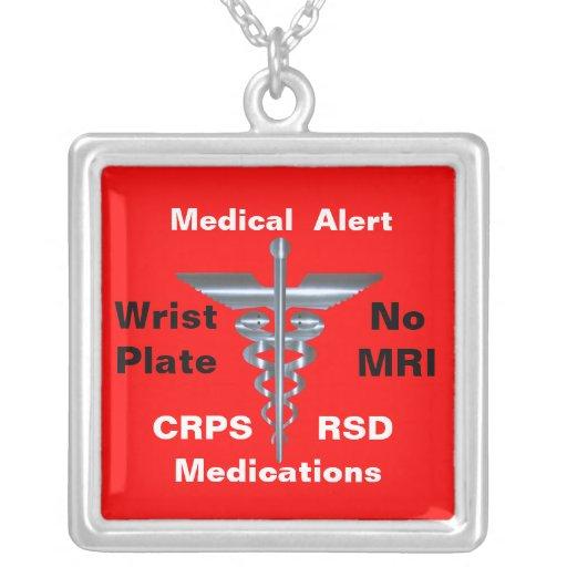 Aucuns médicaments médicaux de l'alerte CRPS/RSD d Colliers Personnalisés