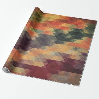 Audacieuses géométriques couleurs portées rétros papiers cadeaux
