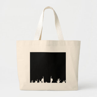 Audience Poster Background Large Tote Bag