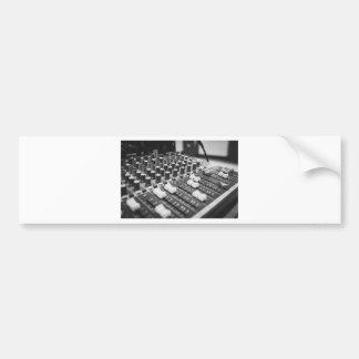 Audio Black And White Black White Concert Console Bumper Sticker