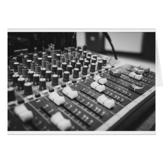 Audio Black And White Black White Concert Console Card